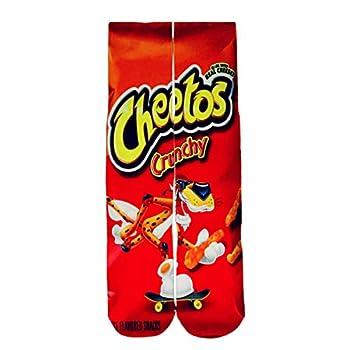 Crazy Socks for Boys 3d Print Food Crew Cool Sport Tube Men Socks,Cheetos