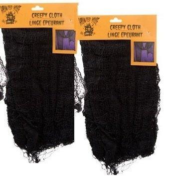 Black Creepy Cloth 30 X 72 - Set of 2 - Creepy Spooky Halloween Decorations