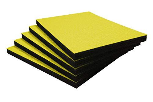 Shadow Foam Easy Peel (600mm x 420mm) - personalisierbarer Schaumstoff für die Organisation von Werkzeugkisten (Fünferpack (30mm Tiefe), Gelb AUD schwarz)