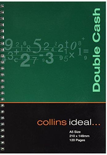 Collins Ideal Wiro - Cuaderno de anillas para contabilidad (tamaño A5, 120 páginas, hojas blancas), multicolor