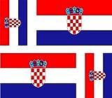 Akachafactory 4x selbstklebend Sticker Auto Moto Koffer Laptop Flagge Kroatien Kroatische