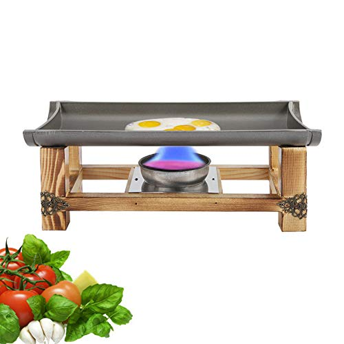 Placa antiadherente para parrilla de interior, sartén de picnic para barbacoa, utensilios de cocina con placa de parrilla para estufa portátil, bandeja para estufa de gas para interiores(30CM)