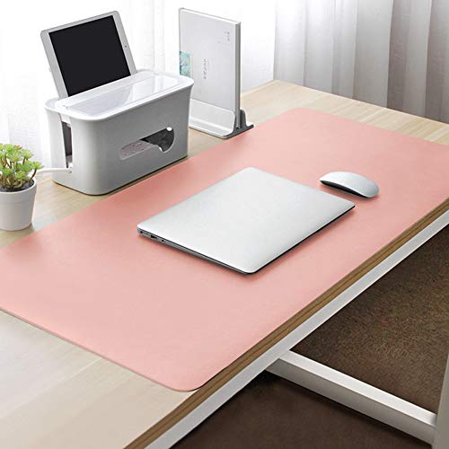 Have Leather Desk Mat Protector Multifunctional Gaming Mouse Pad Large Mouse Pad Waterproof Desk Pad Office Home Pink-Pink. 120x50cm(47x20inch)