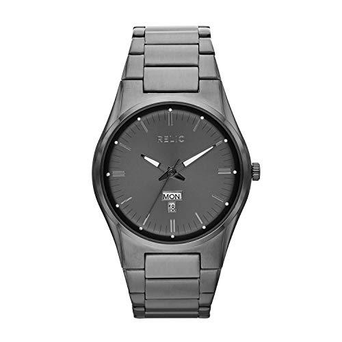 Relic by Fossil Men's Sheldon Quartz Stainless Steel Casual Watch, Color: Gunmetal (Model: ZR12124)