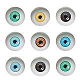 Julie Wang 10 Pairs 40mm Dome Glas Menschliche Augen für Kunstpuppen Skulpturen Requisiten Masken...
