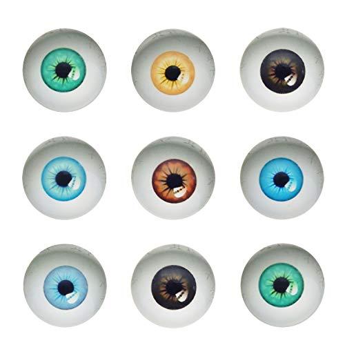 Julie Wang 10 Pairs 40mm Dome Glas Menschliche Augen für Kunstpuppen Skulpturen Requisiten Masken Fursuits Machen Präparatoren Flatback