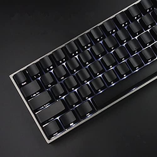 Wuyuana Juego de teclas de teclado, delantero/lateral, retroiluminado, cereza MX con extractor de teclas para teclado mecánico 87/104, teclado negro (color 87 piezas con caja)
