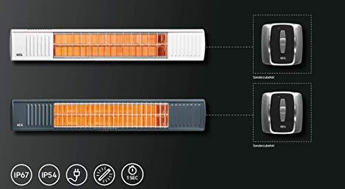 AEG Terrassen-Heizstrahler IR Premium 2000 H W, 2 kW, hochheffiziente Qualitäts-Goldröhre, weiß, 234788 - 3