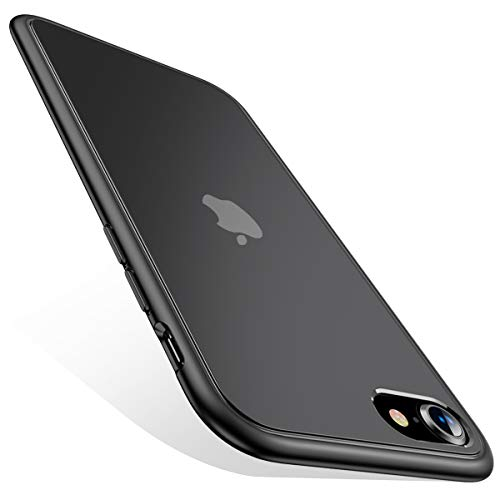 CAFELE Real Military Grade Carcasa para iPhone SE 2020 [Versión actualizada] - Carcasa de silicona resistente y bordes suaves finos - Carcasa para iPhone SE 2020/8/7/6s - Negro mate