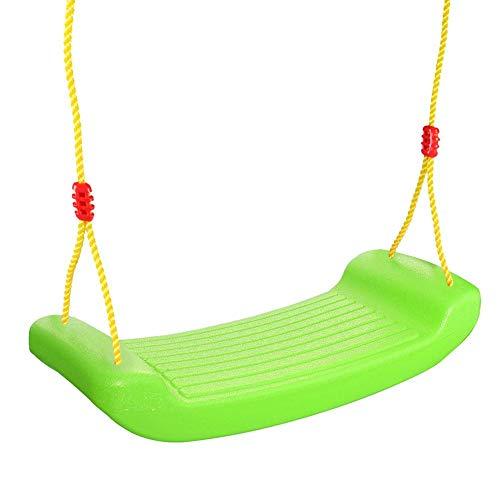 pegtopone - Columpio infantil, columpio con cuerda de colores, asiento de balancín para el ocio, para el espacio de juego al aire libre, hogar, interior y exterior, PVC, columpio de tablero duro