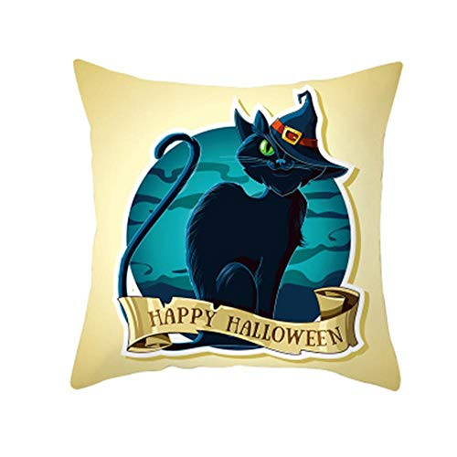 Kasoul Cushion Covers, Square Pillow Cases Pillow Covers Decorative Soft for Living Room Sofa Couch Bed Pillowcases Family Thanksgiving Halloween 18x18 inches