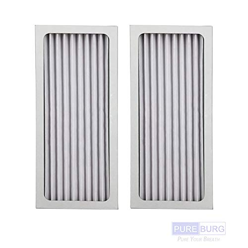 PUREBURG 2-Pack Replacement HEPA Air Filters Compatible with Hamilton Beach 990051000 fits TrueAir Glow Compact Pet 04383 04384 04385 04386 Air Purifiers