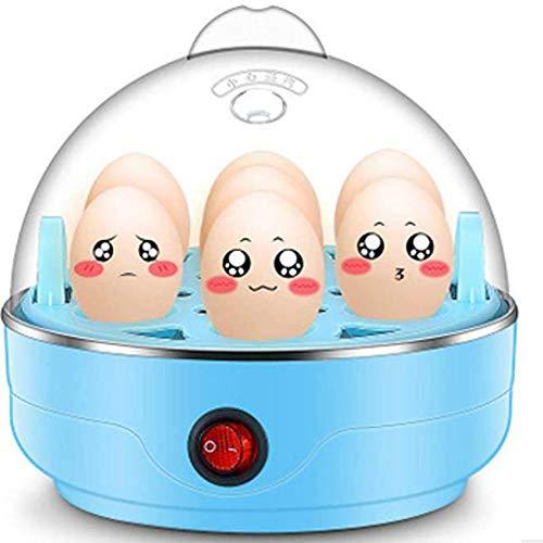 Thuis Elektrische Eierkoker, 7 Egg Capaciteit Omelette Maker Met Automatische Timer Steamer Inbegrepen Meten Van Kop,Blue