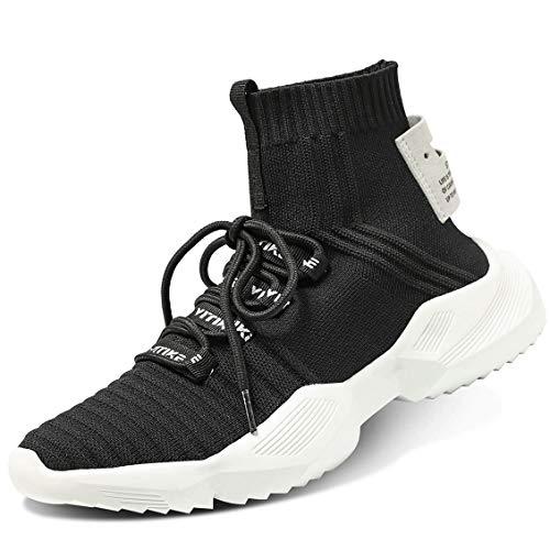 Littleplum Women'sWalkingShoesRunningSocksPlatformFashionMeshSneakersAirCushionAthleticGymCasualLoafersDanceHip-hopShoes