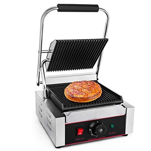 HuSuper LD-811 1800w Grill Plate Electric Kontaktgrill Griddleplatte Edelstahl Gastro Grill Sandwich BBQ Kochplatte