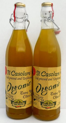 Il Casolare (2 pack) USDA Organic Extra Virgin Unfiltered Olive Oil 750ml bottles from Italy (NEW CROP) by Farchioni