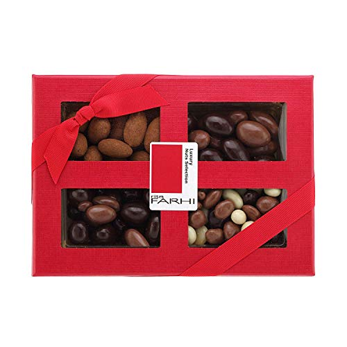 Photo of Rita Farhi Selection of Chocolate Covered Nuts  (Almonds, Brazils, Hazelnuts) in a Luxury Gift Box, 390 g