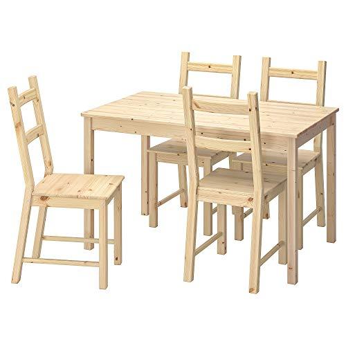 IVAR/INGO Tisch und 4 Stühle 75x73 cm Kiefer