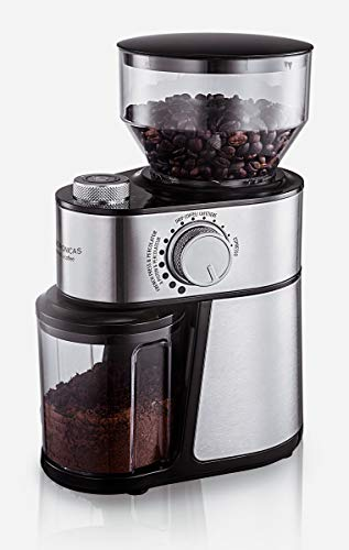 Andronicas Professional Coffee Bean Grinder Machine - Burr Grinder Machine With Free Coffee Beans Bag - Improved Version