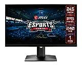 MSI Optix MAG251RX Monitor Gaming Esport 24.5', Pantalla 16:9 FHD (1920x1080), Frecuencia 240 Hz, Tiempo de Respuesta 1 ms, Panel IPS, AMD FreeSync, Nvidia G-Sync, HDR 400