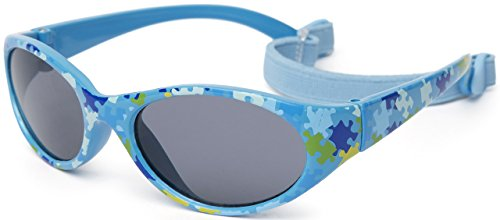 Kiddus Gafas de sol KIDS COMFORT para niña niño. A partir de 2 años. Filtro solar UV400. Banda ajustable y extraíble. Hechas de Goma. Resistentes a Impactos, Muy Flexibles.
