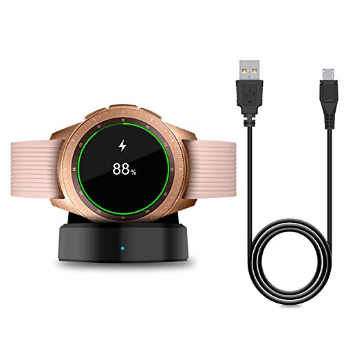 Cargador para Samsung Galaxy Watch 42 mm/46 mm, base de carga actualizada para Samsung Galaxy Watch SM-R800/R810/R815 Smart Watch Charger
