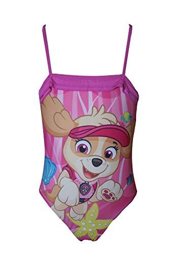 Nickelodeon TM Paw Patrol Magentaroter Badeanzug mit Paw Patrol-Aufdruck für Mädchen, Sonnenschutz-Badebekleidung UPF 50+, Badeanzug aus einem Stück (6-7 Jahre)