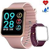 Bebinca Smart Watch, Bluetooth Sport Watch Fitness Tracker with Touchscreen Heart Rate & Blood Pressure Monitor, Activity Tracker Calorie Counter, Sleep Monitor Ultra-Long Battery Life