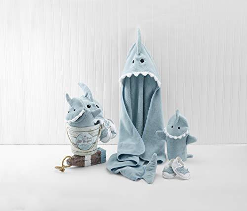 Baby Aspen Four-Piece Gift Set, Let The Fin Begin, Blue