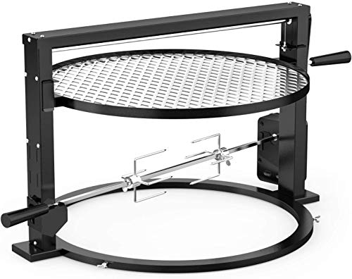 Onlyfire Santa Maria Style Grill Rotisserie System Adjustable Cooking Grate...