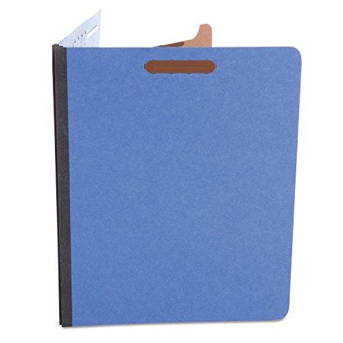 Universal 10201 Pressboard Classification Folders, Letter, Four-Section, Cobalt Blue (Box of 10)