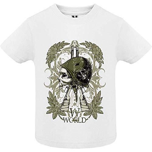 LookMyKase T-Shirt - World War Symbol - Bébé Garçon - Blanc - 18mois