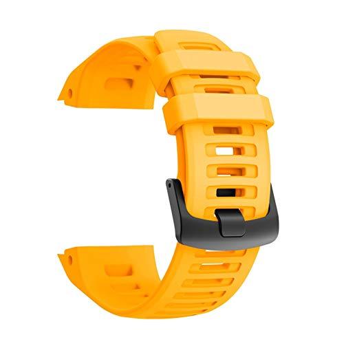 LXF JIAJU Banda para Garmin Instinct Smart Watch Strap Sport Silicone Reemplazo De Pulsera Pulsera Colorida para Garmin Instinct Correa (Color : Yellow)