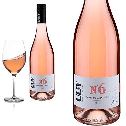 12er Karton 2019 Uby N°6 Rosé Côtes de Gascogne von Domaine d'Uby - Roséwein
