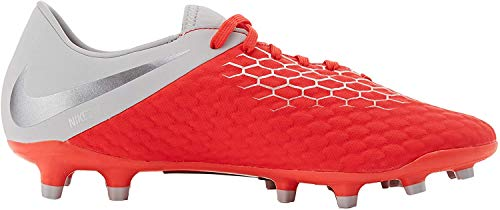 Nike Unisex-Erwachsene Hypervenom Phantom III Academy FG Sneakers, Mehrfarbig Lt Crimson MTLC Dark Grey Wolf Grey 001, 39 EU