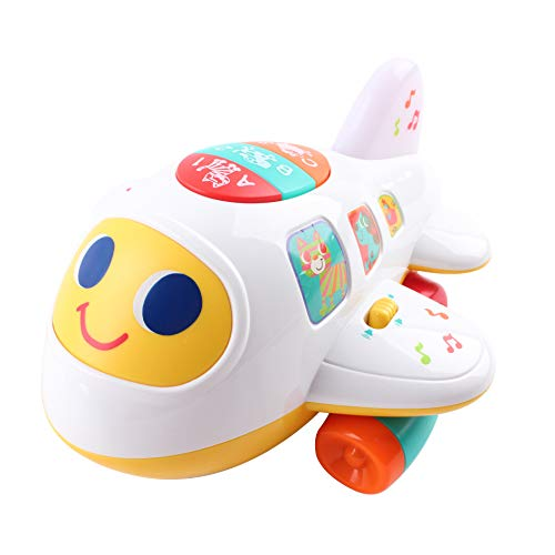 CoolToys My First Plane Airplane Toy for Toddlers and Babies for Learning Letters, Numbers and Colors - Lights Up, Sings, and Moves Around