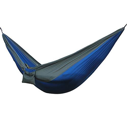 L.J.JZDY Piscine Gris Bleu Hamac Portable Hanging Chaise de Camping Accrocher Tapis Balançoire Couchage Lit Suspendu Balançoire Lit d'extérieur