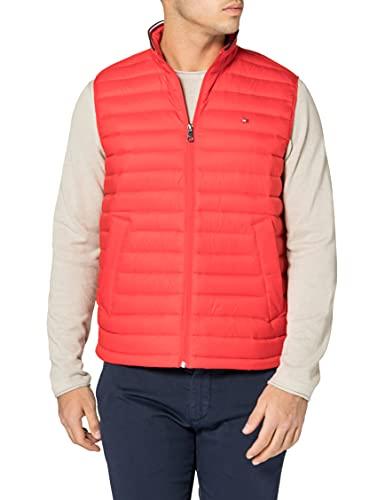 Tommy Hilfiger Packable Down Vest Longue, Feux d'artifice, L Homme