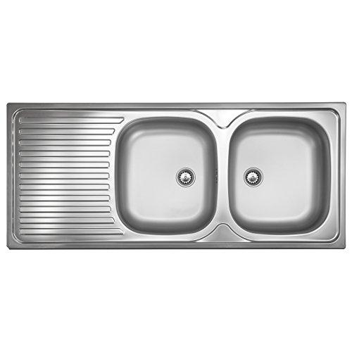 Doppelbeckenspüle ED 500 Plus Edelstahl-Spüle 2 Becken Spülbecken Doppelbecken
