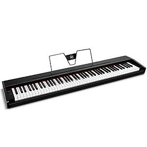 Souidmy Pianoforte Digitale, Tastiera Elettrica Compatta a 88 Tasti con Tasti Semi-Pesati, Campioni Tonalità di Pianoforti a Coda da Concerto Incusi, Accuratezza 24-bits