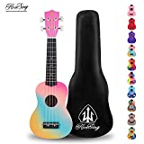 Honsing Kids Ukulele,Soprano Ukulele Beginner,Hawaii kids Guitar Uke Basswood 21 inches with Gig