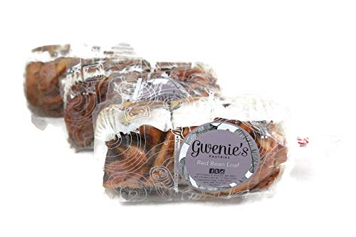 Gwenie's Pastries Red Bean Swirl bread loaves bread braided (Red Bean, 3 Loaves) Consume within 5 days or refrigerate