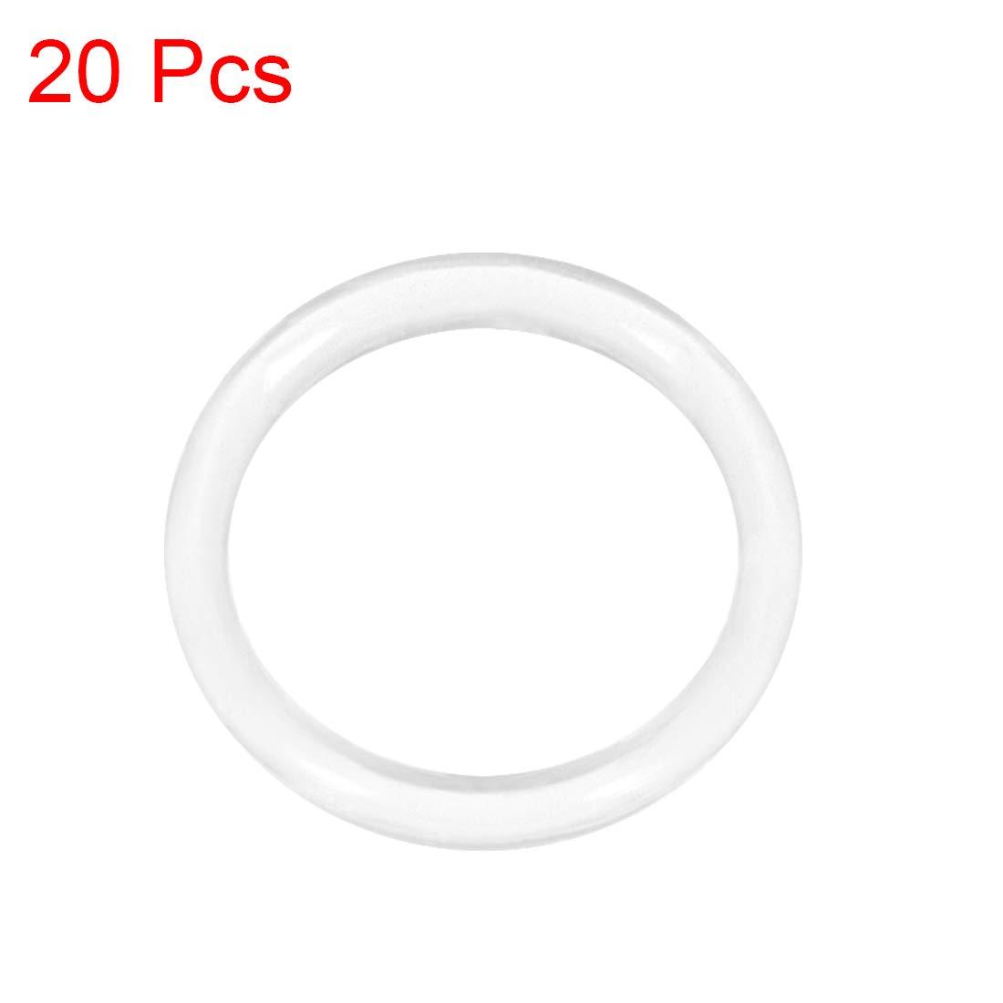 2 mm de ancho Sourcingmap juntas t/óricas de silicona 1 mm-20 mm de di/ámetro interior junta de sellado
