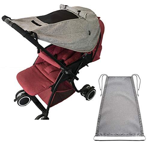 Toldo para cochecito de bebé, universal, resistente a roturas y lavable, protección solar UV 50+, universal, resistente al viento, para cochecito y silla de paseo