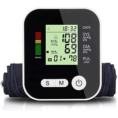 LTLGHY Oberarm-Blutdruckmessgerät USB Aufladbar, Elektronisches Blutdruckmessgerät Sprachübertragung Und Herzfrequenz, 22-32Cm Große Manschette, 2X99 Zwei-Benutzer-Speichermodus