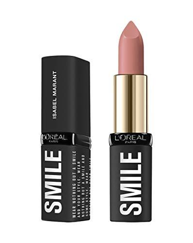L'Oréal Paris Isabel Marant SMILE LIPSTICK La Seine Shadow, pflegender Lippenstift für volle und gesunde Lippen, 4 g