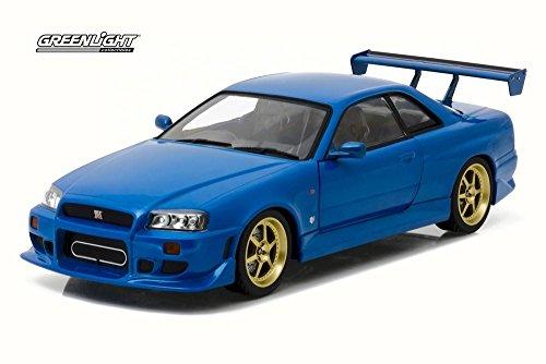 Greenlight 1999 Nissan Skyline GT-R R34, Bayside Blue 19032 - 1/18 Scale Diecast Model Toy Car