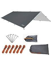 Unigear Toldo Camping Impermeable Lona Suelo Protector Aolar Anti-Viento Toldos para Playa Tienda Hamaca Acampada Refugio Al Aire Libre