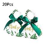 Caja de regalo de las cajas del caramelo, cajas del favor de la boda dulce, 20 / ducha verde de la hoja de papel 50Pcs cajas del caramelo del bolso del regalo de boda Caja de regalo del bebé favores d
