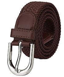ZORO womens Stretch woven brown braided belt SCB-27-BR